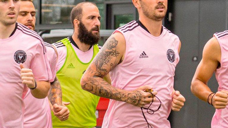 El drástico cambio de look de Gonzalo Higuaín que sorprendió en la práctica del Inter Miami