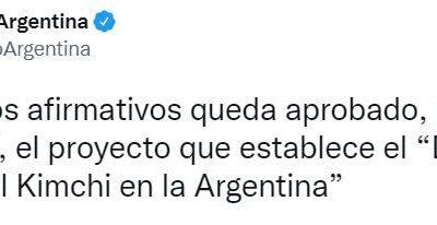 """El Senado aprobó el """"Día Nacional del Kimchi en la Argentina"""""""
